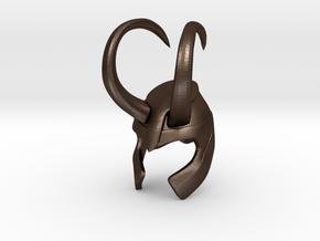 Loki Finger Helmet in Matte Bronze Steel