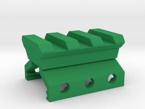 Weaver to Picatinny Adapter in Green Processed Versatile Plastic