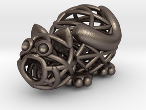 Caty 2.0 in Polished Bronzed Silver Steel