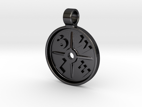 SWOLE Plate - Pendant Small in Polished and Bronzed Black Steel