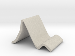 Tabletop Stand for Smart Phone or Tablet in Natural Sandstone