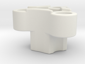 Rc-rim to 3 pin mount adaptor in White Natural Versatile Plastic