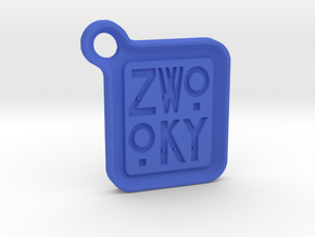 ZWOOKY Keyring LOGO 12 3cm 3.5mm rounded in Blue Processed Versatile Plastic