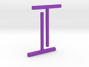 Ear stud 1x1x10 rectangle in Purple Processed Versatile Plastic