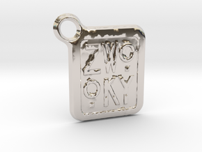 ZWOOKY Keyring LOGO 12 3cm 2mm rounded in Platinum