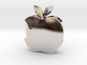 Apple earrings in Platinum: Small