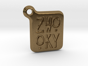 ZWOOKY Keyring LOGO 14 3cm 3mm rounded in Natural Bronze