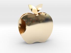 Apple pendant Love  in 14K Yellow Gold: Medium