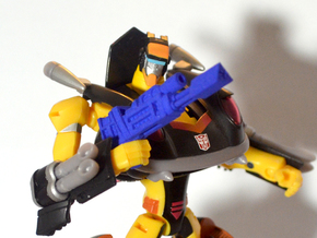 Autobot Jackpot's Heat Induced Photon Rifle in Blue Processed Versatile Plastic