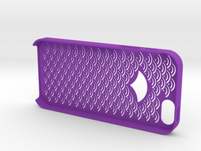 Iphone5/5s Case,cover Japanese traditional pattern in Purple Processed Versatile Plastic