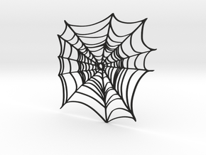 Simple Spider Web in Black Natural Versatile Plastic