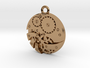 Watch Movement Steampunk Charm/Pendant in Polished Brass