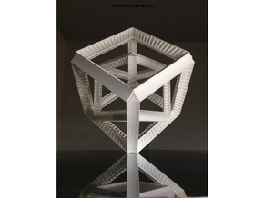 Hyper Cube Perspective enclosed in White Natural Versatile Plastic