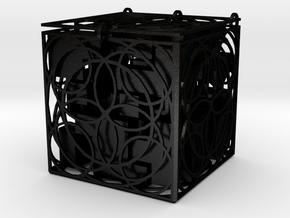 "21 Piece ""Tetris Cube"" Puzzle (+decorative box) in Matte Black Steel"