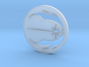 Jedi Symbol in Smooth Fine Detail Plastic