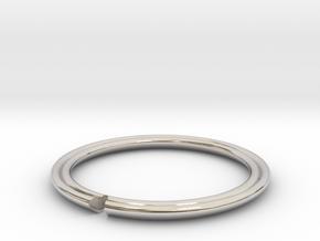 Secret Hidden Heart Ring (Size 9) in Platinum