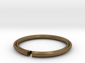Secret Hidden Heart Ring for introverts! (sz 5.25) in Natural Bronze
