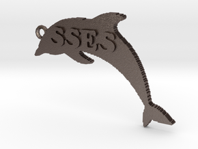 SSES Keychain/Ornament in Polished Bronzed Silver Steel