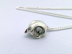 Tweety Pendant in Fine Detail Polished Silver
