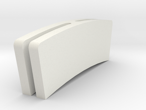 Gravely Snowblower Chute Glide - Part No. 10580 in White Natural Versatile Plastic
