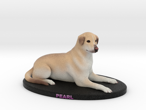 Custom Dog Figurine - Pearl in Full Color Sandstone