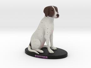 Custom Dog Figurine - Potter in Full Color Sandstone