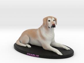 Custom Dog Figurine - Charlie in Full Color Sandstone