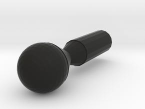 Bowling Pin in Black Natural Versatile Plastic