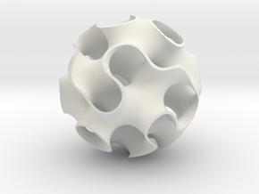 Small Gyroid in White Natural Versatile Plastic