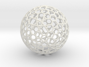 Cell Sphere 8 - Plato's Playball  in White Strong & Flexible