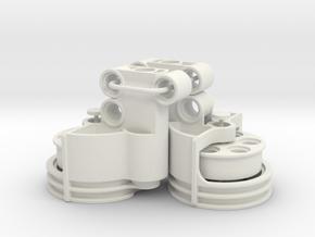 Portal Axle Rear in White Natural Versatile Plastic