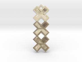 Amsterdam ketting hanger xxx in Platinum