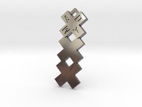 Amsterdam ketting hanger xxx in Premium Silver