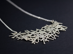 LINES NECKLACE in Polished Silver