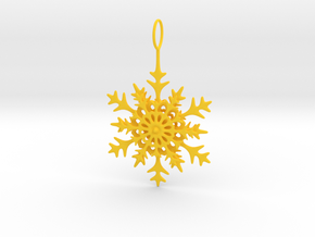 Christmas Snowflake in Yellow Processed Versatile Plastic
