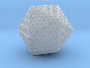 Icosahedron Christmas Tree Ornament in Smooth Fine Detail Plastic