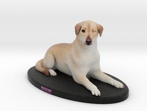 Custom Dog Figurine - Dixie in Full Color Sandstone