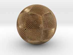 Christmas tree ornament #13 in Natural Brass