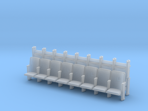 8 X 3 Theater Seats HO Scale in Smooth Fine Detail Plastic