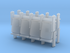 4 X 4 Theater Seats HO Scale in Smooth Fine Detail Plastic