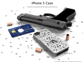 "iPhone 5 - ""Shattered"" Case with Pocket in White Processed Versatile Plastic"