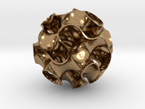 Small Gyroid in Natural Brass