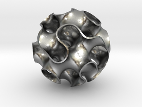 Small Gyroid in Natural Silver