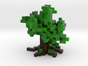 Voxel Tree in Full Color Sandstone