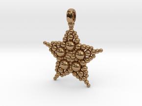 COSMIC STARFISH Designer Jewelry Pendant in Polished Brass