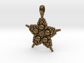 COSMIC STARFISH Designer Jewelry Pendant in Natural Bronze