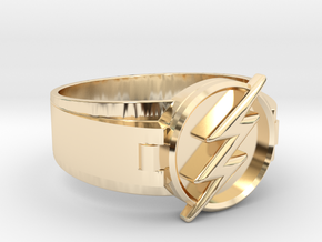 Flash Ring size 10 20mm  in 14K Yellow Gold