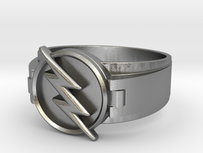 Reverse Flash Ring Size 9 19mm  in Natural Silver