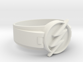 Flash Ring Size 9 19mm  in White Natural Versatile Plastic