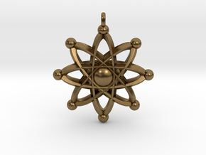 UNIVERSAL ATOM Designer Jewelry Pendant in Natural Bronze